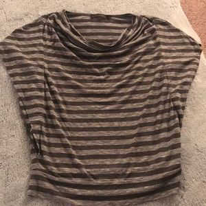 The Limited cowl neck striped shirt